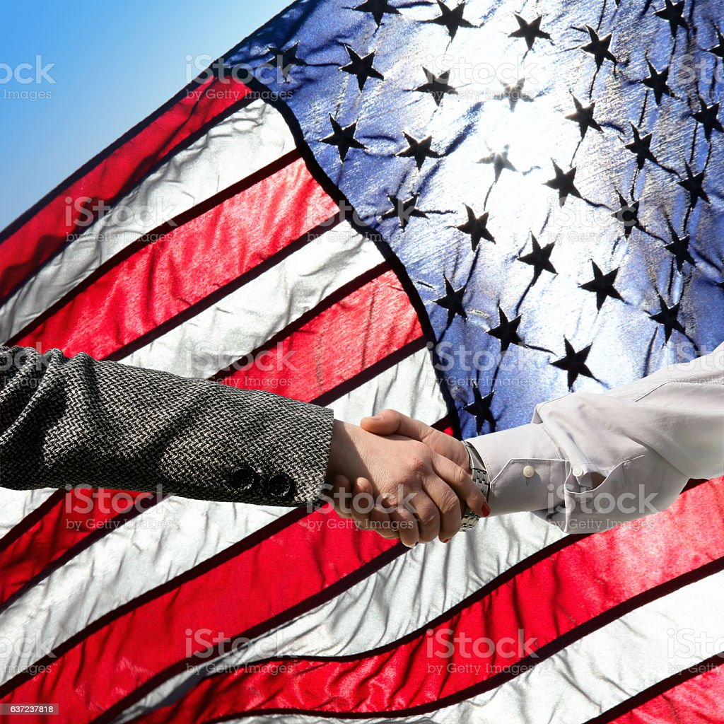 business deal in America stock photo