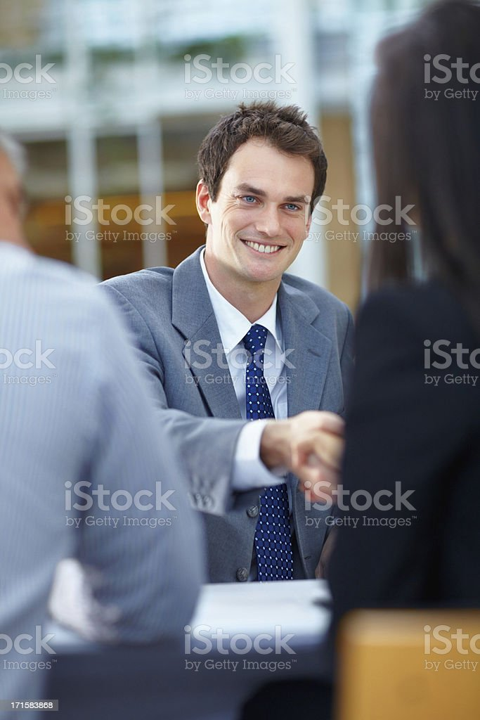 Business deal in the making royalty-free stock photo