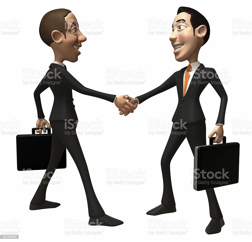 Business deal royalty-free stock vector art