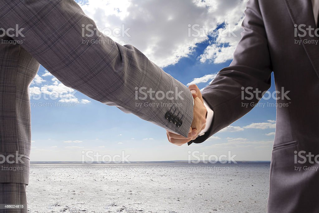 Business Deal salt lake background royalty-free stock photo