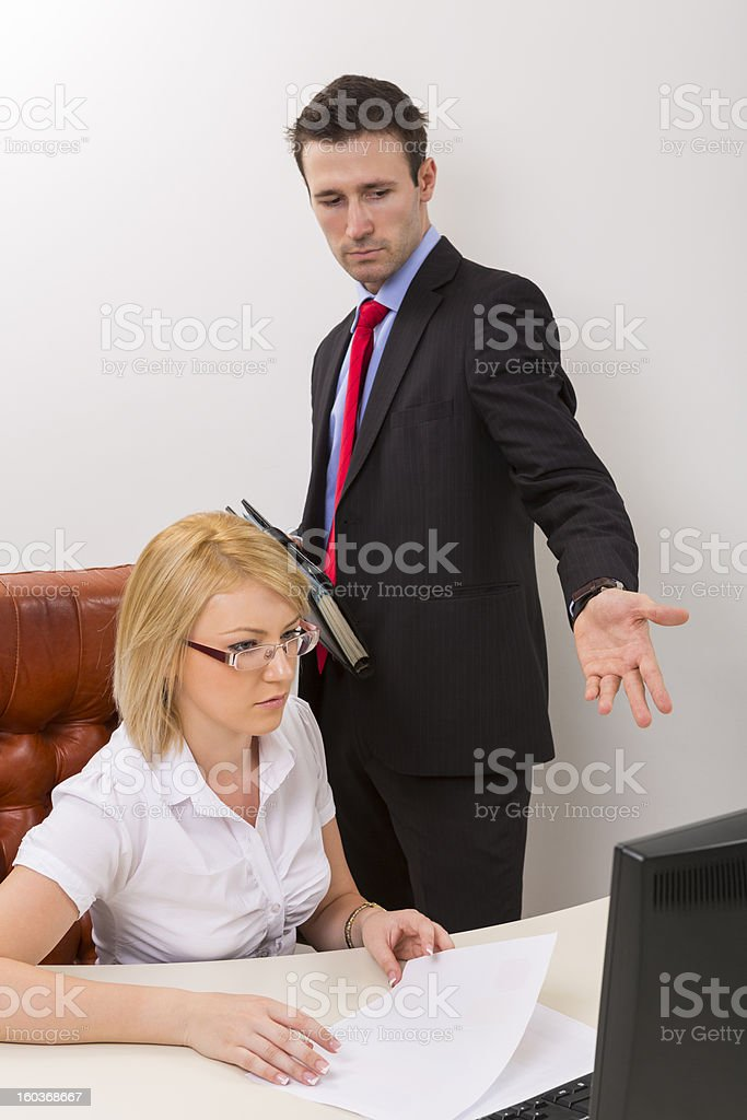 Business debate at office royalty-free stock photo