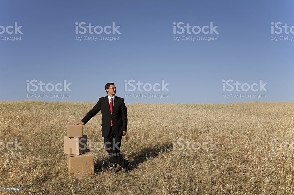 Business deliver royalty-free stock photo