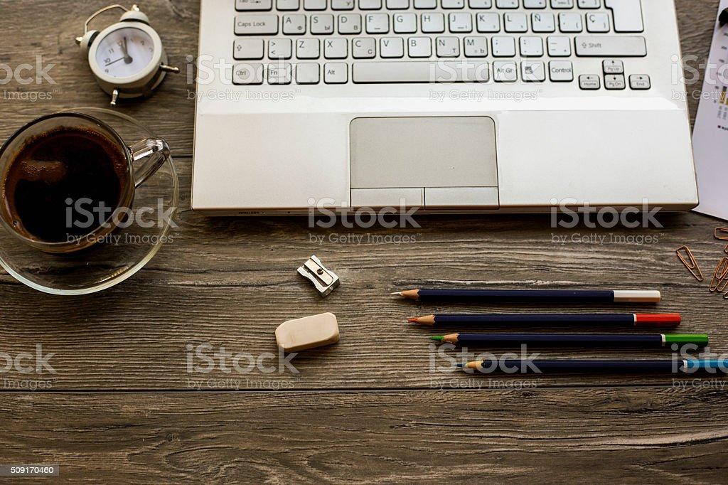 Business desk stock photo