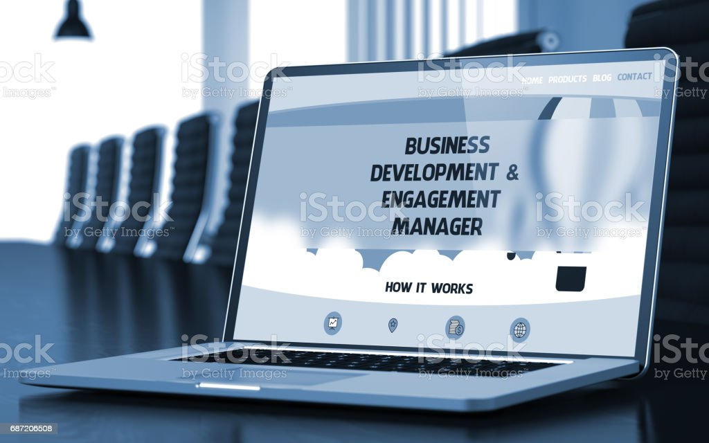 Business Development and Engagement Manager. 3D stock photo