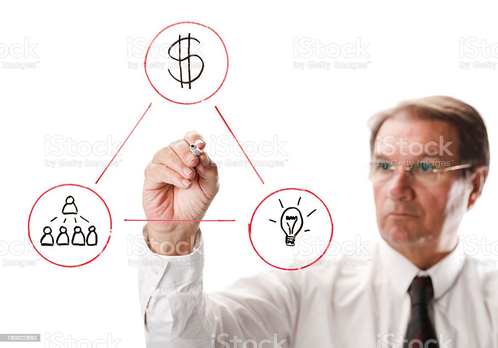 business diagram royalty-free stock photo