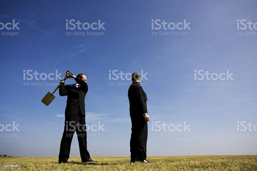 Business disagreement royalty-free stock photo