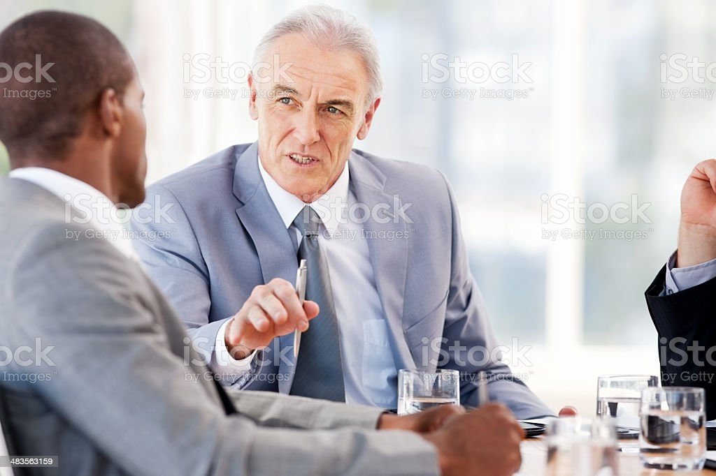 Business Discussion At A Meeting royalty-free stock photo