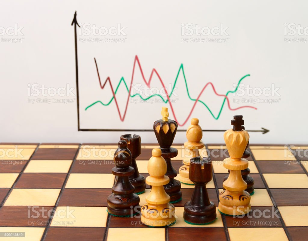 Business. Discussion of trading on stock exchange stock photo