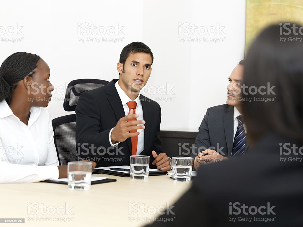 Business discussion royalty-free stock photo