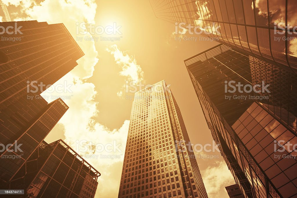 Business District, Canary Wharf in London royalty-free stock photo