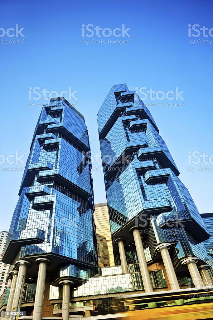 Business District Hong Kong stock photo
