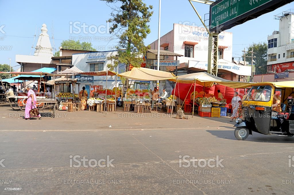 Business District in Pune, India stock photo