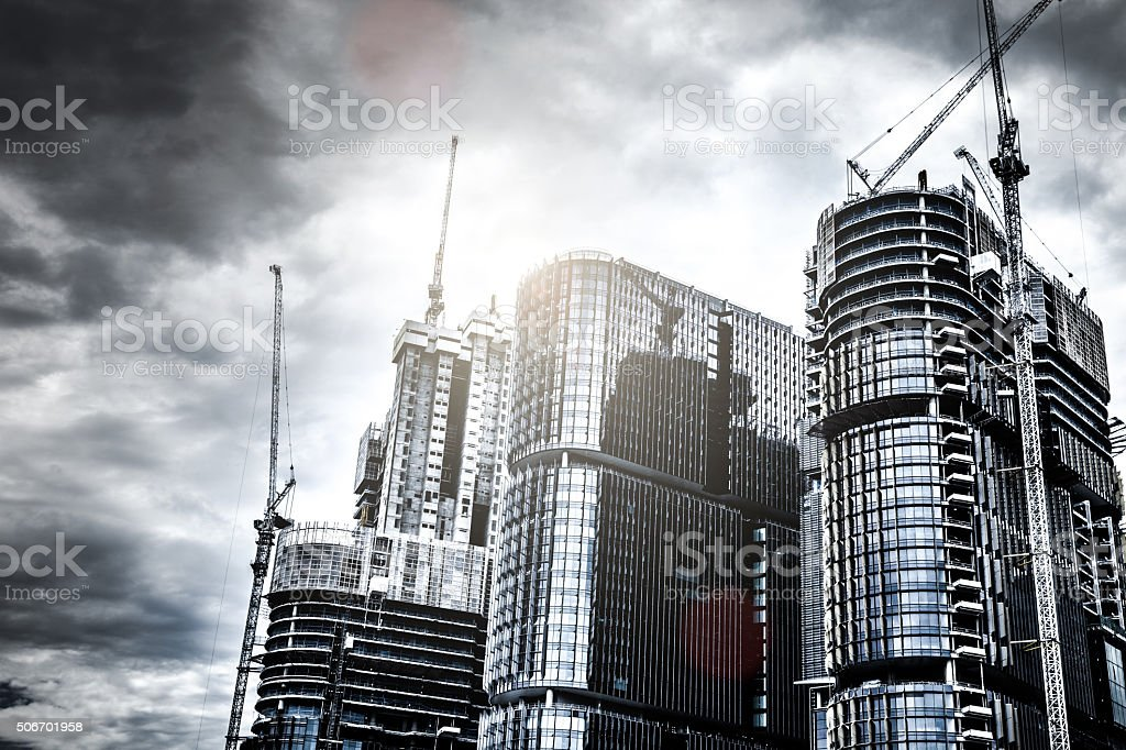 Business district new skyscrapers in Sydney stock photo
