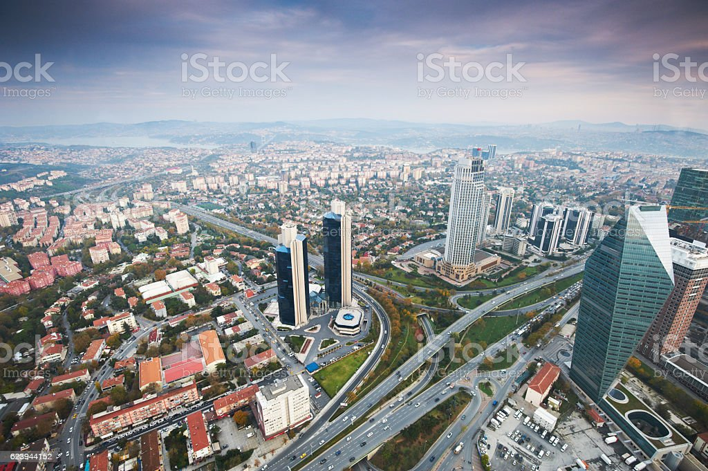 Business District of Istanbul stock photo