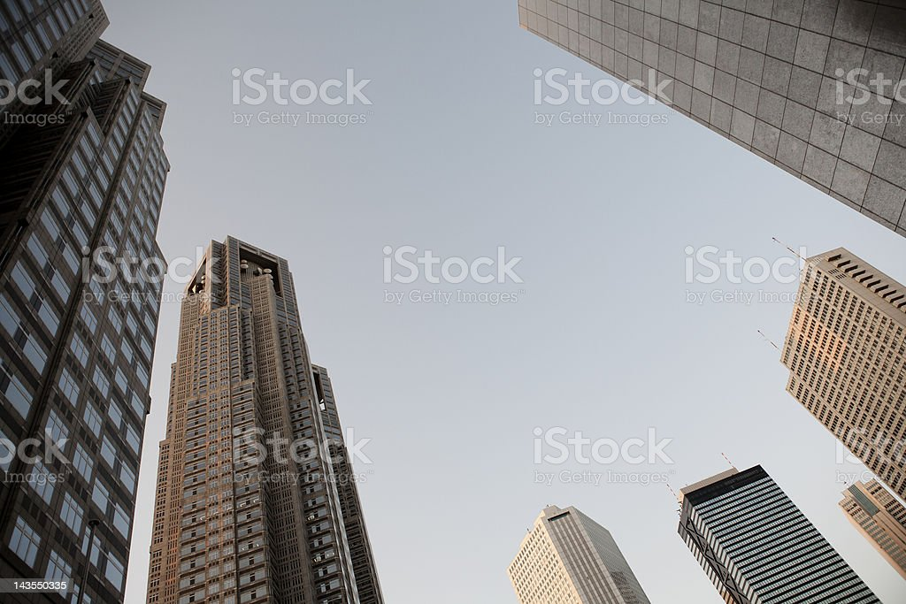 business district Tokyo stock photo