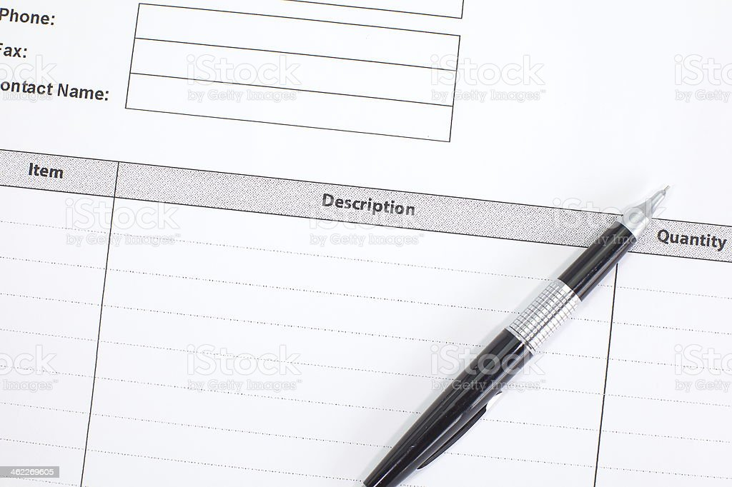Business Document Invoice stock photo