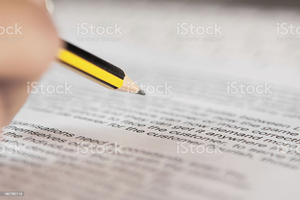 Business Document royalty-free stock photo