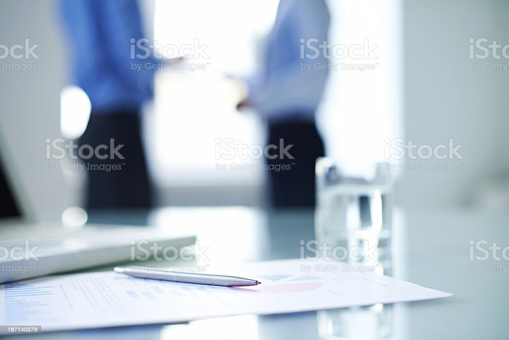 Business document stock photo