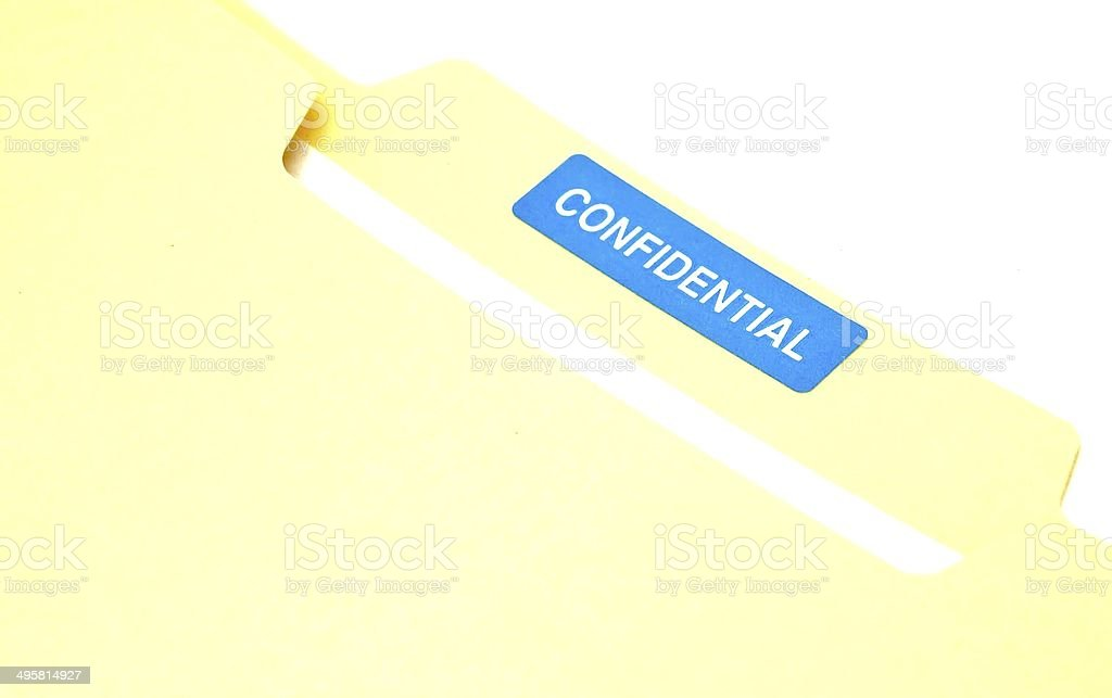 Business Documents in Confidential File stock photo