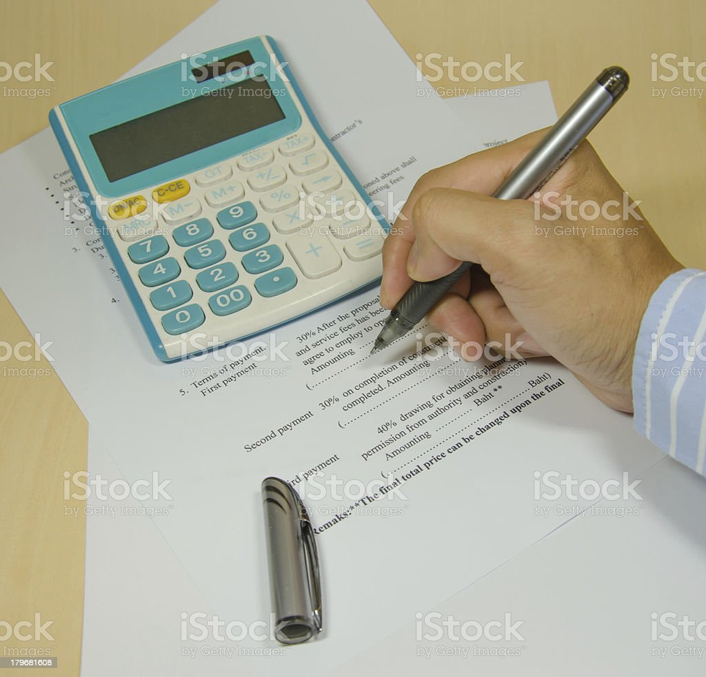 Business documents. royalty-free stock photo