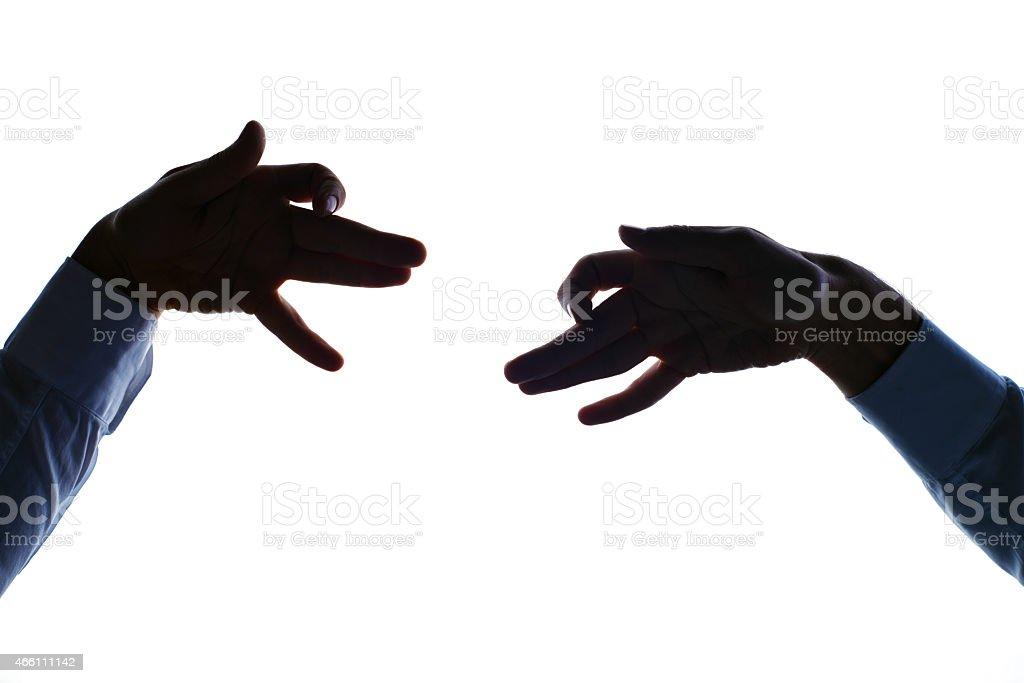 Business dog fight stock photo