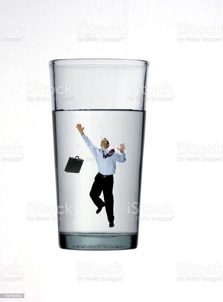 Business drowning. stock photo