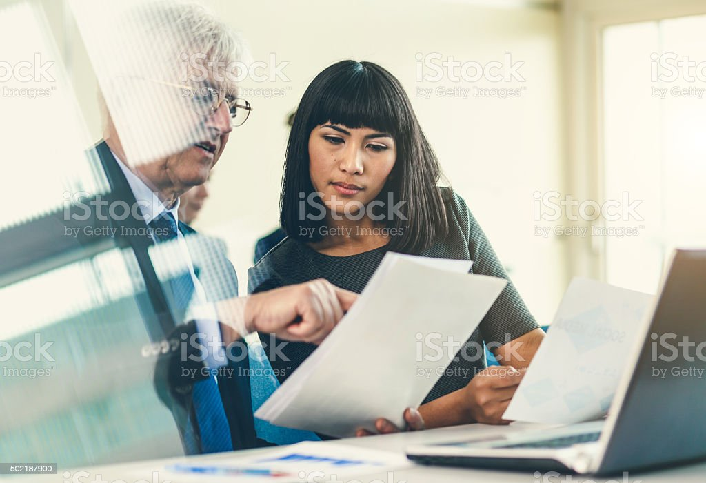 Business education group stock photo