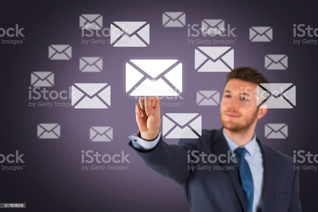 Business Email Concept on Screen stock photo