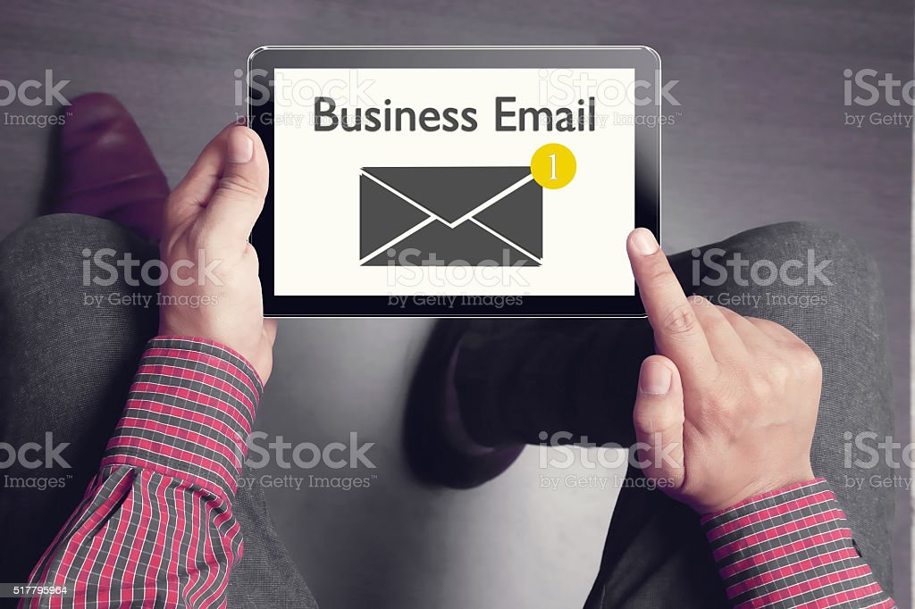 Business email concept stock photo