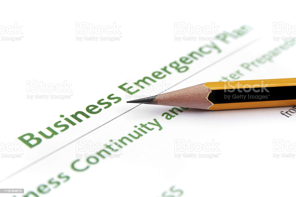 Business emergency plan royalty-free stock photo