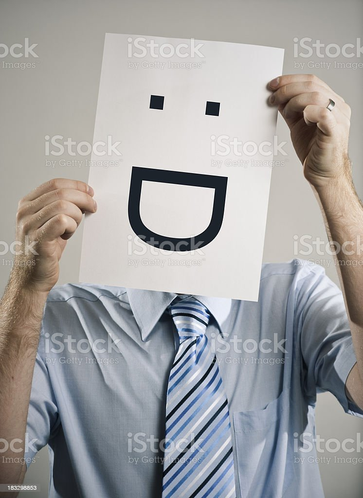 Business Emoticon Guy royalty-free stock photo