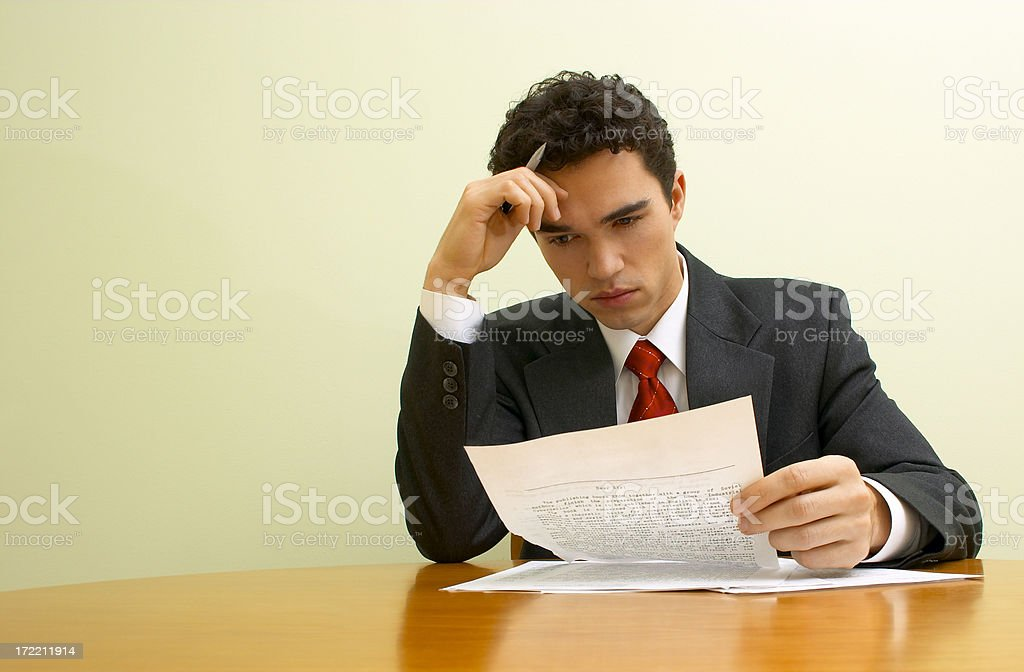 Business emotions - Analyzing royalty-free stock photo