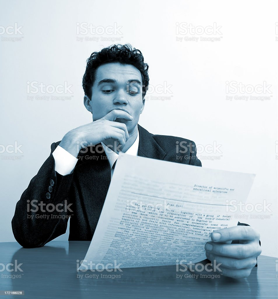 Business emotions - Interest royalty-free stock photo