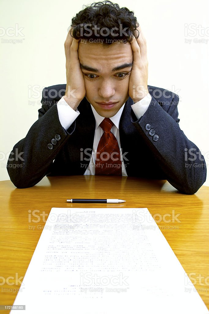Business emotions - Overwork royalty-free stock photo