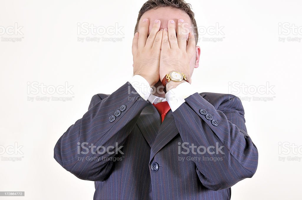 Business emotions royalty-free stock photo