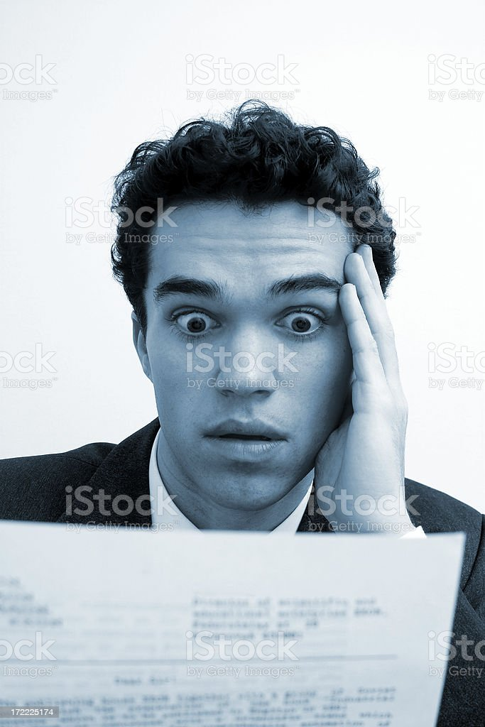 Business emotions - Shock #3 royalty-free stock photo