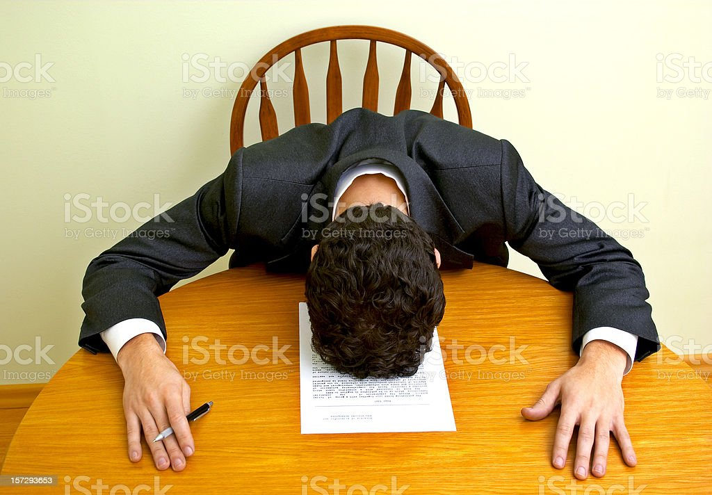 Business emotions - Tiredness royalty-free stock photo