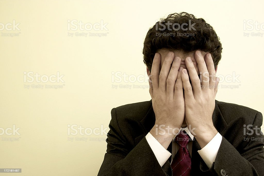 Business emotions - Trouble #3 royalty-free stock photo