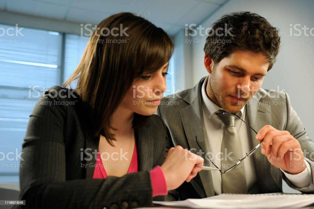 Business employees and team work royalty-free stock photo