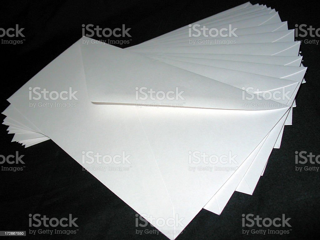 Business Envelopes royalty-free stock photo