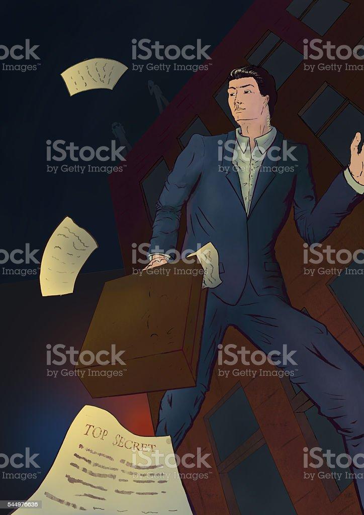 Business espionage stock photo