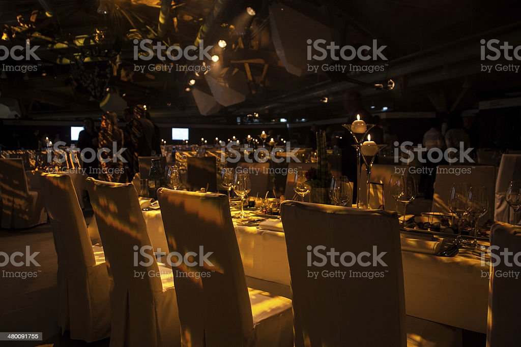 Business event, festive decorated stock photo