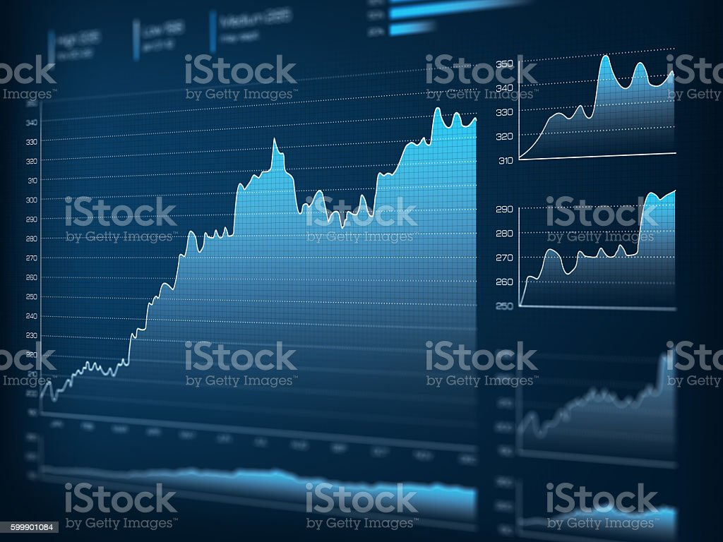 Business evolution graph stock photo