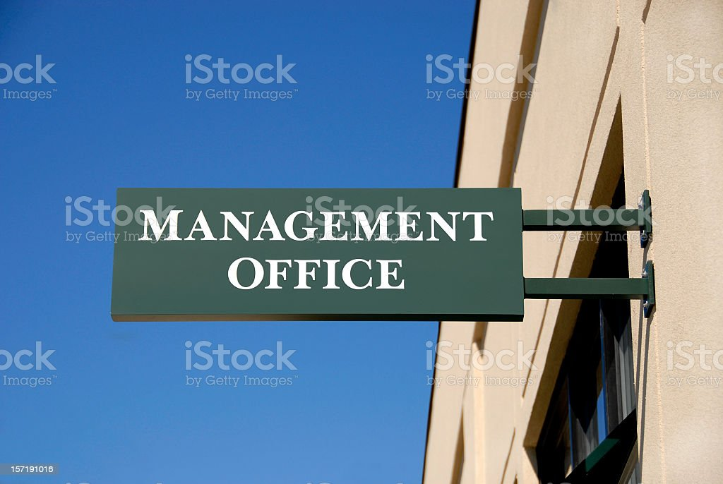 Business, Executive, or Corporate Management Office Sign stock photo