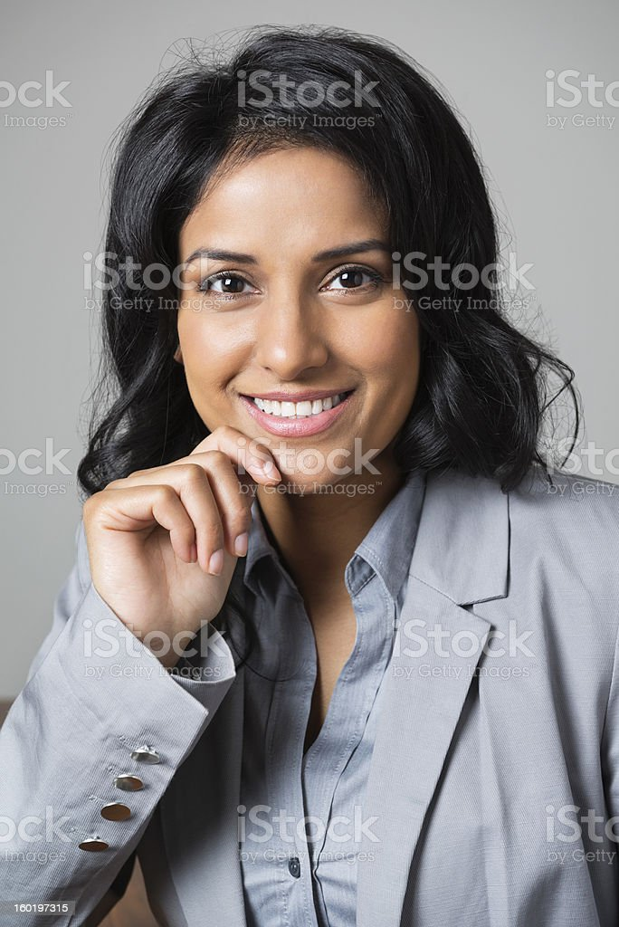 Business Executive With Hand On Chin royalty-free stock photo