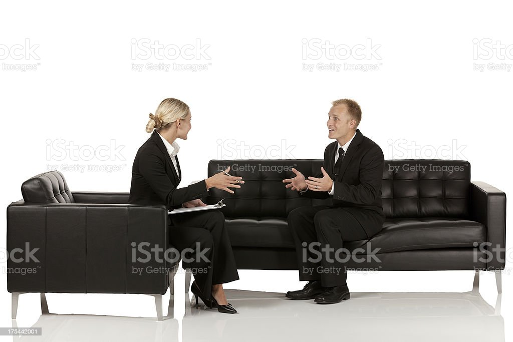 Business executives discussing royalty-free stock photo