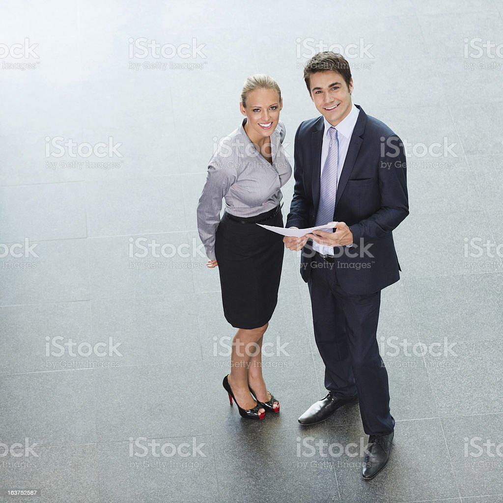 Business Executives From Above royalty-free stock photo