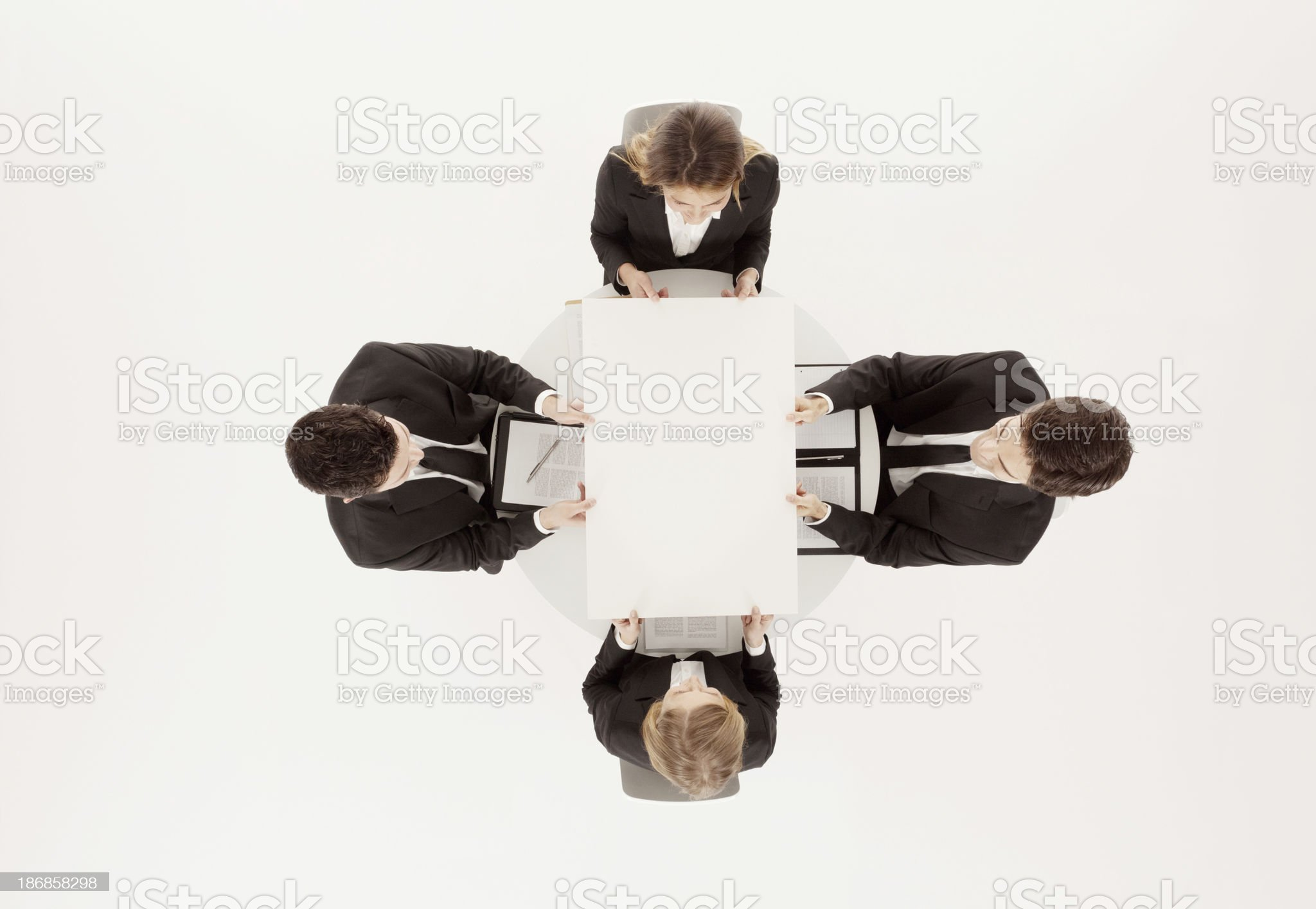 Business executives in a meeting royalty-free stock photo