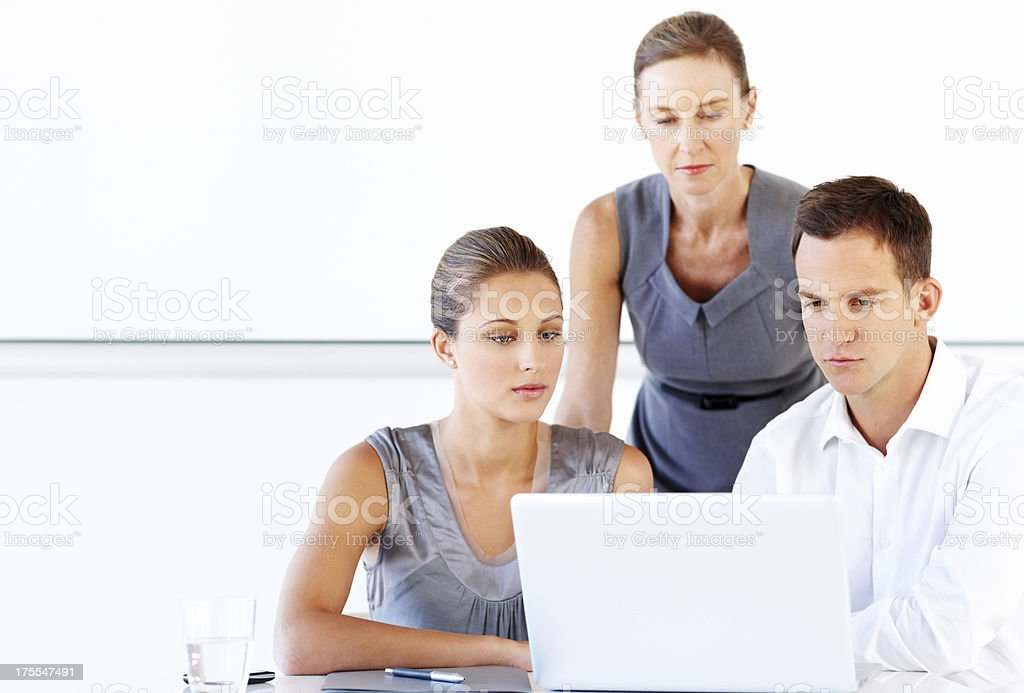 Business Executives Working On Laptop royalty-free stock photo