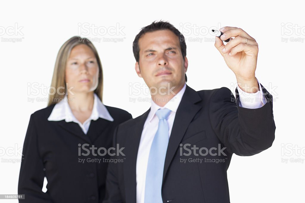 Business explanation royalty-free stock photo